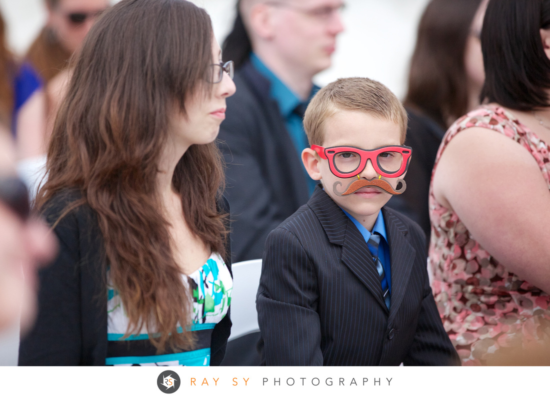 Kid with red glasses